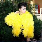 Womens Faux Feather Fur Short Peacoats Coats Jackest Outwear Parka Luxury 4Color
