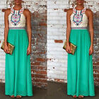 Fashion Womens Sexy Boho Long Maxi Dress Ladies Summer Beach Party Sun Dress New
