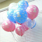 10pcs Ballons Boy Decor 1st Baby Number 1 Party Girl Printed First Birthday