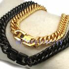 Never Fade IP Gold 316L Steel Chain 7.5mm Round Side Cuban HAND POLISHED Choker