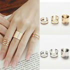 Women Fashion 3Pcs/Set Fashion Top Of Finger Adjustable Open Ring Jewelry Gift &