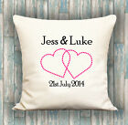 Couples PERSONALISED LUXURY CUSHION COVER YOUR TEXT, PERFECT GIFT