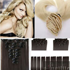 Double Thick Full Head Weft Clip in Hair Extensions with 10% remy human hair SZ9