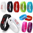 New Women Men Striking Silicone Red LED Sport Bracelet Touch Digital Wrist Watch