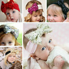 Kids Baby Infant Girls Hair Band Sequined Bow Headband Turban Hair Accessories
