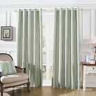 LUXURY LYM STRIPES RING TOP FULLY LINED PAIR EYELET READY MADE CURTAINS TEAL NEW