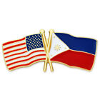 PinMart's USA  and Philippines Crossed Friendship Flag Lapel Pin