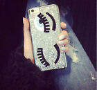 Women Thin Bling Glitter Girl Eye Back Case Cover For iPhone5 5s SE 6 6s Plus UK