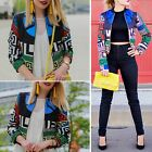 Fashion Women Ladies Casual Slim Vintage Floral Suit Blazer Jacket Coat Outwear