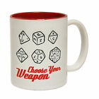 Choose Your Weapon Dice Humour Slogan Games Gambler MUG cup birthday funny gift
