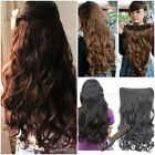 Free Shipping Full Head Clip Curly/Wavy Women's Gift Synthetic Hair Extension