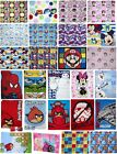 NEW OFFICIAL DISNEY FLEECE BLANKET FROZEN AVENGERS DESPICABLE ME MARIO BLANKETS