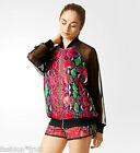 ADIDAS Originals Women Snakeskin Chiffon Football Soccer Track Top Jacket XS S M