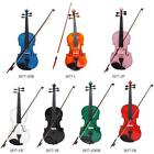4/4 Violin Fiddle Basswood Body Steel String Arbor Bow for Music Lovers A3E1