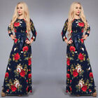 Sexy Women's Ladies VINTAGE Flower Long Party Formal Cocktail Evening Ball Dress