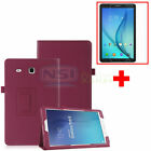 """Leather Case Cover+Tempered Glass Screen Protector For Samsung Galaxy Tab E 8.0"""""""