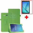 Leather Case Cover+Tempered Glass Screen Protector For Samsung Galaxy Tab E 8.0""