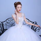 NEW Sexy Lace Long Princess Bridal  Wedding Dress Bridal Gown#D166 White&Red