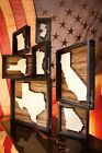 State Shape Black Wood Shadow Box Sign Primitives By Kathy Vintage Heart Gift