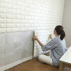 White 3D Embossed Brick Stone Wall Sticker Waterproof Foam Wallpaper Home Decor