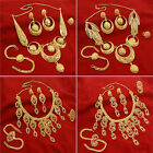 Ethnic Indian Traditional Gold Plated Necklace Set Wedding Bollywood Jewelry