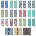 MICKLYN LE FEUVRE FLORAL PATTERNS LEATHER BOOK CASE FOR APPLE iPHONE PHONES