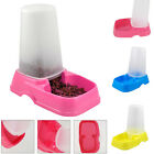 Pet Dog Cat Puppy Automatic Water Food Feeder Fountain Bowl Dish Dispenser