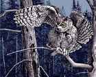 A Huge Owl On Tree Branch Needlepoint Canvas 566