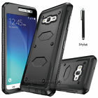 For Samsung Galaxy J7 J700 Armor Shockproof Hybrid Rugged Rubber Hard Case Cover