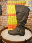 Bare Traps Sheridan Grey Ruched Riding Boot Wide Calf NEW