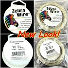 Zebra Wire coated copper,silver,round 14,16,18,20,22,24,26,28 gauge,pick your si