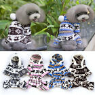 Puppy Dog Pet Soft Warm Snowflake Deer Hoodie Jumpsuit Coat Doggy Outfit Clothes
