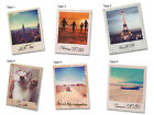 Polaroid Photo Fridge Magnet Plastic / Personalised Image + Text Gift Idea
