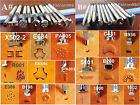 7kind 20pc Stainless Steel LeatherCraft Stamping Stamp Punch Stamper Tool Set AB
