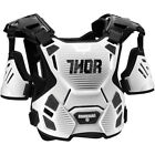 Thor Mens White/Black Guardian Dirt Bike Chest Roost Protector MX ATV MTB BMX 17