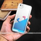 Cute Liquid Dolphin Moving Dynamic Hard Case Cover for Apple iPhone 5 5S SE