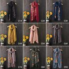 Women Long Scarf Embroidery Flower Cotton Indian Large Scarves Ladies Shawl #041