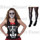 LADIES DAY OF THE DEAD SKELETON SENORITA HALLOWEEN FANCY DRESS COSTUME 8-18