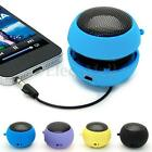 Portable Mini 3.5mm Hamburger Speaker Rechargeable For iPhone Laptop Tablet PC