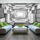 Photo Wallpaper WOODEN 3D EFFECT ABSTRACT TUNNEL Wall Mural (3248VE)
