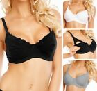 New Maternity Nursing Bra Cotton Underwired Breastfeeding Bras Baby Feeding