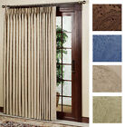 """long door curtain - NEW Gabrielle Pleat Thermal Patio Door Panel Curtain - 96"""" wide by 84"""" long"""