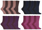 Jennifer Anderton - 6 Pack Soft Modal Cotton Plain Colourful Ribbed Boot Socks