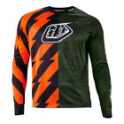 Troy Lee Designs Moto Caustic Mens Bicycle Jersey Army Green/Orange/Black