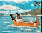 Sam Toft Dogger Fisher Light Vessel Automatic Canvas Print 50x40x3.8cm