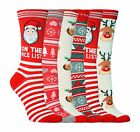 Sock Snob - Womens Fun Cute Novelty Christmas Winter Cotton Crew Socks, 5-9 US