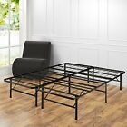 Platform Bed Frame Full Size Box Spring Replacement Large Underbed Storage Space