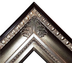 "4.25"" fancy Silver Leaf Ornate kinkade Oil Painting Wood Picture Frame 650S"
