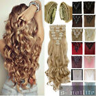 100% Natural Remy Clip in Hair Extensions 8 Pieces Full Head Silky As Human Hair
