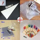 100x Party Bags Clear Candy Lollipop Sweets Popcorn Packing bags Display Tool *S